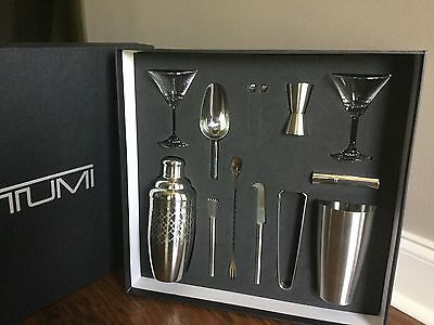 Tumi Mixology Set Martini Set Bar Set Prepack Items Silver Perfect Holiday Gift