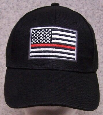 fa89c95c702 Embroidered Baseball Cap Fire Police Rescue Red Lives Matter NEW 1 fits all