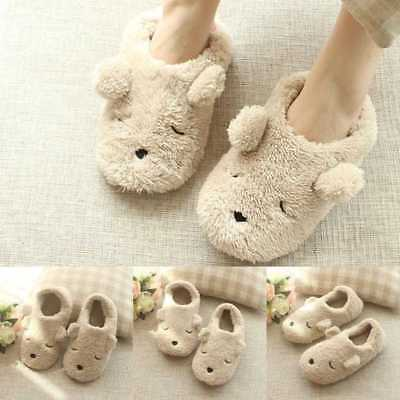 Women Bear Slippers Warm Winter Home Shoes Indoor Slippers Plush Slipper  A+