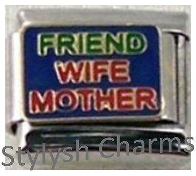 CLASSIC ITALIAN CHARM IN MEMORY OF MY WIFE fits all design 9mm bracelet link AF4