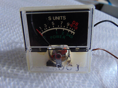 S UNITS/POWER METER *AS PICTURED* from a Vintage MIDLAND 13-863B Cb Base Radio