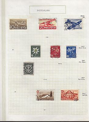 SWITZERLAND 1944-45 Collection FINE USED on Page  Stamps removed for Ship