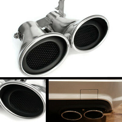 Dual Exhaust Muffler Tail Pipe Tips For MERCEDES-BENZ AMG C Class W203 C240 C320