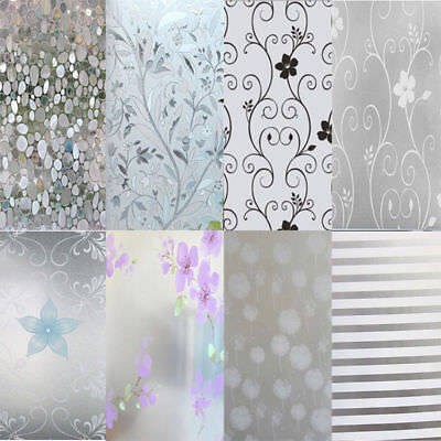 Splinter Window Film Self Adhesive Wall Stickers Bathroom Office Privacy Frosted