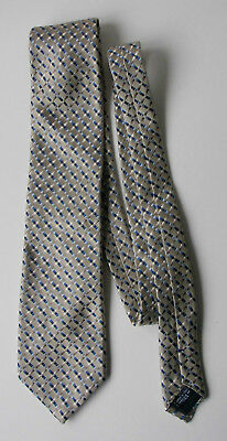 Men's Silk Tie, by Canali, made in Italy, vintage, in shades of blue on stone