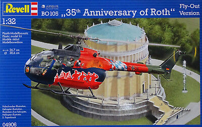 """REVELL® 04906 Airbus BO105 """"35th Anniversary of Roth"""" Fly-Out Version in 1:32"""