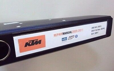KTM 250 EXCF SXF XC 2005 - 2011 WORKSHOP REPAIR MANUAL ENGINE CLUTCH GEARBOX etc
