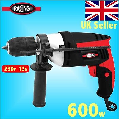 Racing 600w Impact Hammer Drill Driver screwdriver masonry brick electric power