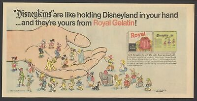 1967 - ROYAL GELATIN ad - DISNEYKINS are like holding DISNEYLAND in your hand!