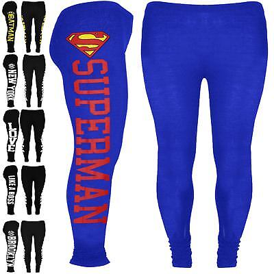 Kids Batman Full Length Leggings Superman Girls New York Like a Boss Jegging