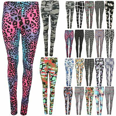 85a43bb3 Girls Printed Leggings Kids Children Teen Basic Stretchy Full Length 7-13  Years