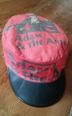 ADAM & THE ANTS Painters Hat vintage 1980s ADAM ANT prince charming