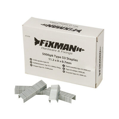 Fixman 8mm Type 53 Staples 5000pk 11.25 x 8 x 0.75mm