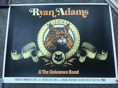 RYAN ADAMS Concert Poster edition of 225 Irving Texas 10/11/17 Music Factory