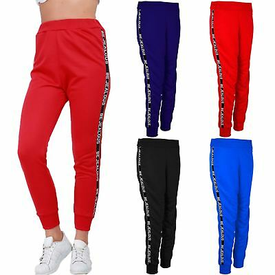 Womens Ladies Cuffed Hem BeJealous Jogger Stretchy Sports Jogging Bottom Trouser