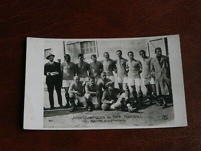 Original Paris Olympic Games 1924 Postcard - Estonia Football Team.