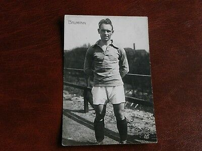 Original Paris Olympic Games 1924 Football Postcard - Baumann, French Player.
