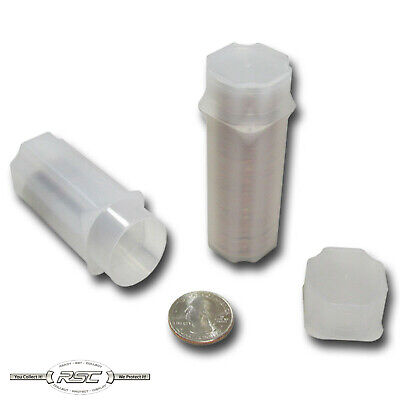 5 - GUARDHOUSE QUARTER COIN TUBES - Each Holds 40 Coins - Brand New!