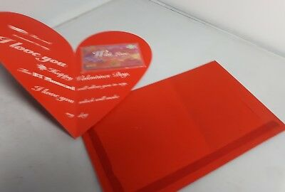 BT heart shaped Valentines Day with unused mint phonecard inside