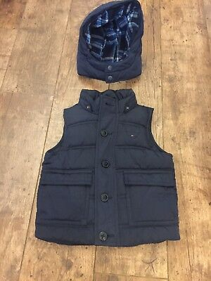Tommy Hilfiger Body Warmer Coat Boys Blue Designer Genuine Age 2 18 Months