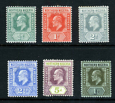 NORTHERN NIGERIA King Edward VII 1910-11 New Colours Part Set SG 40 - SG 48 MINT
