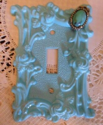 Shabby Chic Vintage Cast Metal Single Light Switch Plate Cover