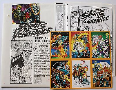 1992 Spirits of Vengeance Keepsake Collection LE 1076/5000 Ghost Rider Envelope