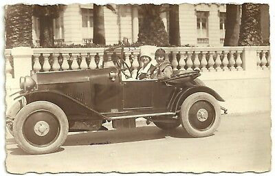 Transport postcard French Mathis open top motor car 1920s automobile