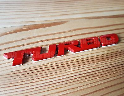 RED Metal Chrome 3D TURBO Emblem Badge Sticker for BMW 1 2 3 4 5 6 7 Series 8 M