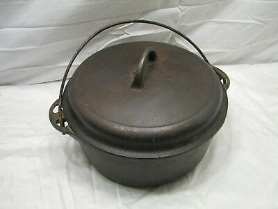 Early Cast Iron Griswold No. 8 1278 A Dutch Oven w/1288 Self Basting Lid Pot Pan
