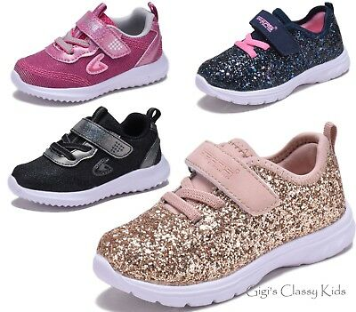 New Baby Toddler Girls Sequin Glitter Strap Tennis Sneakers Fashion Shoes Kids