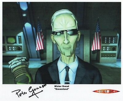 """Doctor Who Auto Photo Print Peter Guinness """"Mister Dread"""""""