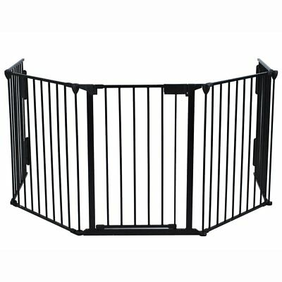 Windaze Safety Fireplace Fence Guard Hearth Gate For Baby Pet Dog Cat BBQ Metal