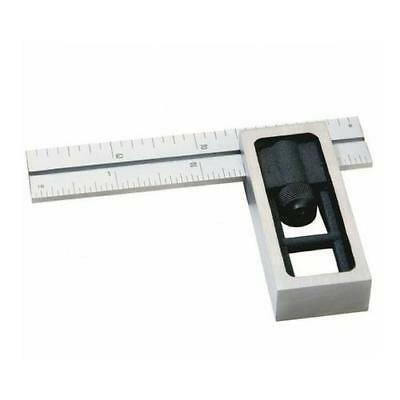 """Igaging 4"""" Engineers Square Precision Steel Satin Chrome Rule Ruler"""