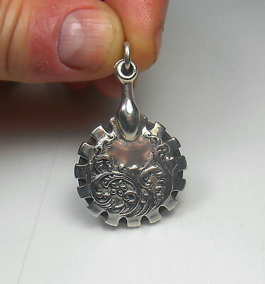 STERLING SILVER Top Quality Art Deco Ornate Thread Cutter Pendant RARE FIND