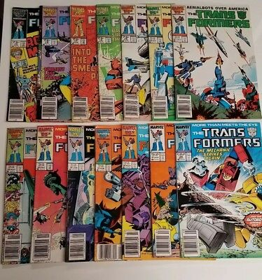 Lot Of (14) Marvel Comics Transformers Comic Books Book *no Reserve 1986 & 1987