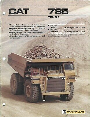 Equipment Brochure - Caterpillar - 785 - Mining Rock Dump Truck - c1988 (E4062)
