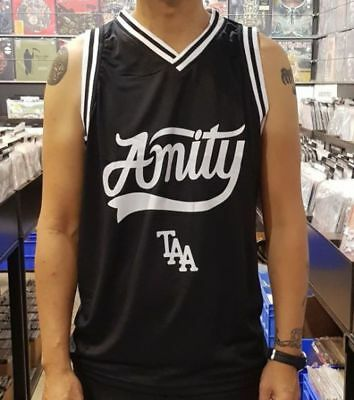 Amity Affliction - TAA and Script Logo Basketball Jersey
