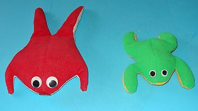 HORNY TOAD lot of two Frogs w/ No Pants BIG RED OHIO STATE Rare Vintage Bean Bag