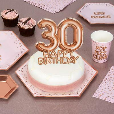 Tremendous Luxury Rose Gold 30Th Birthday Cake Topper Cake Decoration Glitz Personalised Birthday Cards Paralily Jamesorg