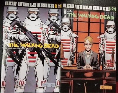 Walking Dead #175 + #176 2 Regular Covers New World Order Ships Image Nm