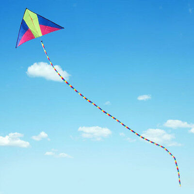 33ft Rainbow Tube Kite Tail Windsock Outdoor Kites Accessories Kids Toys