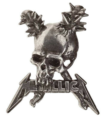 Metallica Lapel Badge Damage Inc Skull band logo new Official Alchemy Silver