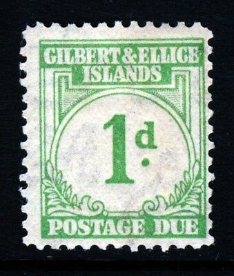 GILBERT & ELLICE ISLANDS KG VI 1940 POSTAGE DUE 1d. Emerald-Green SG D1 MINT