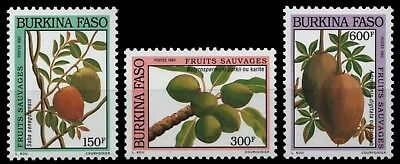 Burkina Faso 1993 - Mi-Nr. 1290-1292 ** - MNH - Früchte / Fruits