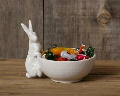 Country new mini white ceramic Bunny Dip /candy Bowl / nice spring/summer bowl