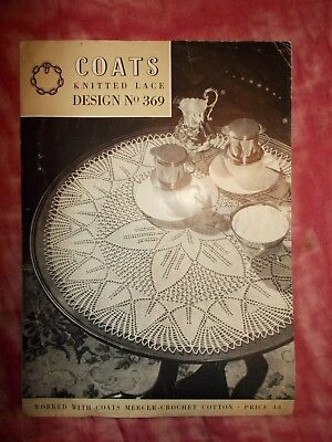 Vintage Coats Coffee Table Mat Knitting Pattern - Knitted Lace