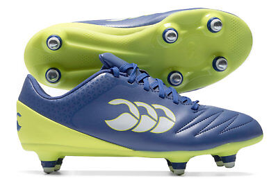 Canterbury Stampede 2.0 Kids Soft Ground Rugby Boots Sports Shoes Studs Blue