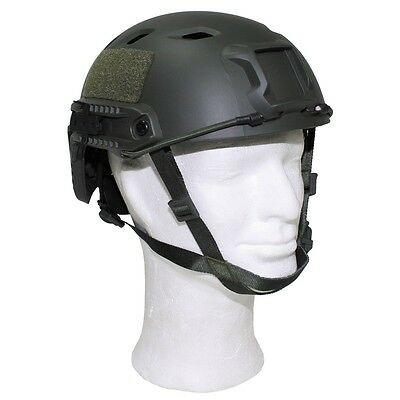 US TC2001 Army Trainings Airsoft Helmet Helm FAST with Rails oliv