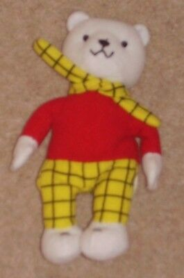 2001 McDONALD'S RUPERT BEAR HAPPY MEAL BEANIE TOY